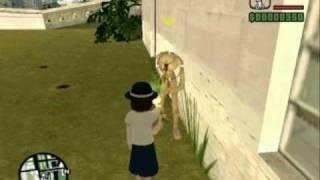 Loquendo GTA San andreas: Renko Usami VS el alienigena de la casa de Ryder