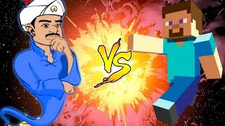 AKINATOR VS MINECRAFT - JuegaGerman