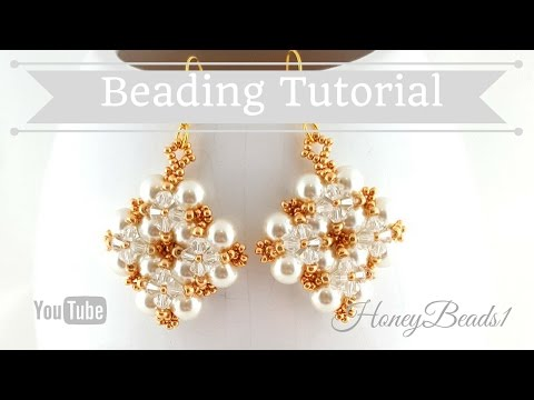 Winterglow Earrings Beading Tutorial by HoneyBeads