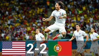 USA vs Portugal 2-2 All Goals & Highlights (English Commentary) 2014 FIFA World Cup