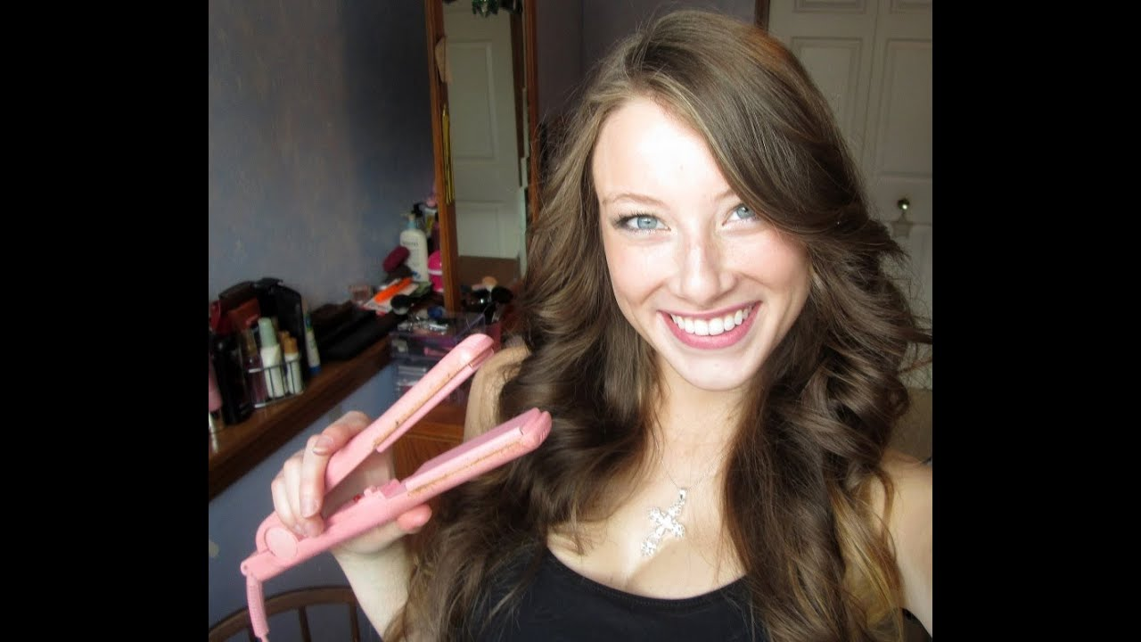 How To Curl Your Hair With A Flat Iron Kelly Marie Youtube