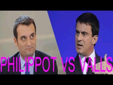Affaire dieudonné - Florian Philippot clash Manuel Valls 06 02 14