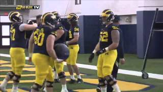 Michigan Football 2015 1st Spring Practice