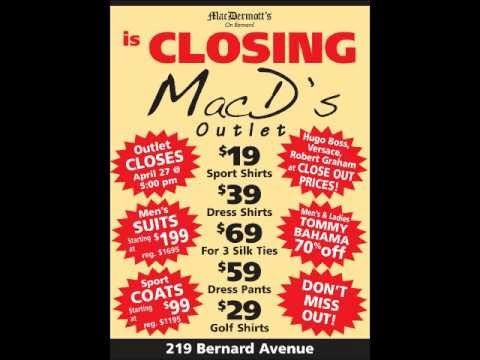 Outlet Closing Radio Ad