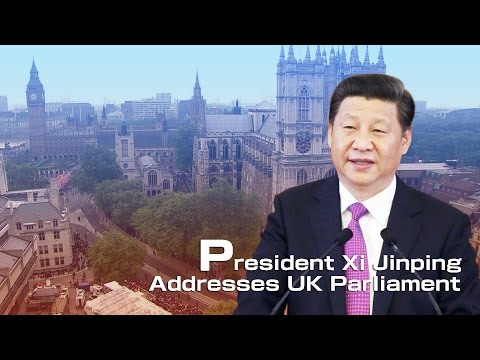 President Xi Jinping addresses UK Parliament
