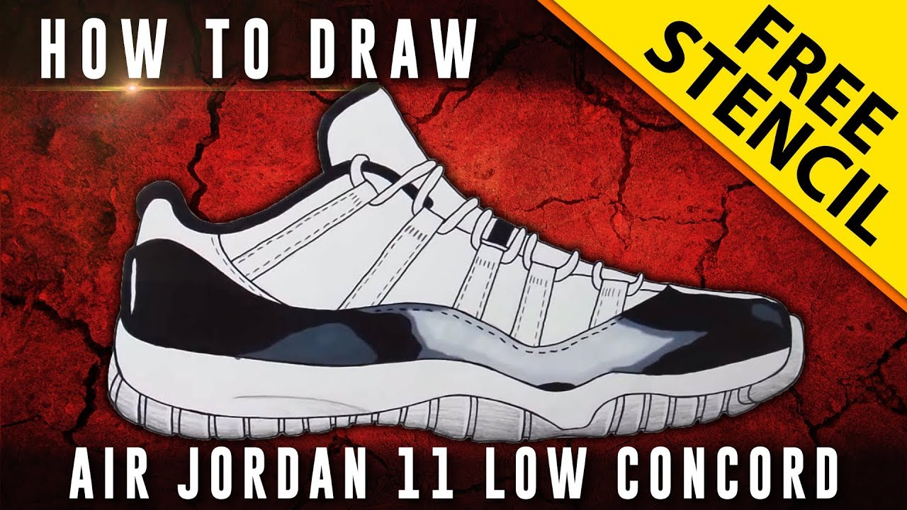 Jordan Retro 11 Drawings How to Draw Air Jordan 11 Low