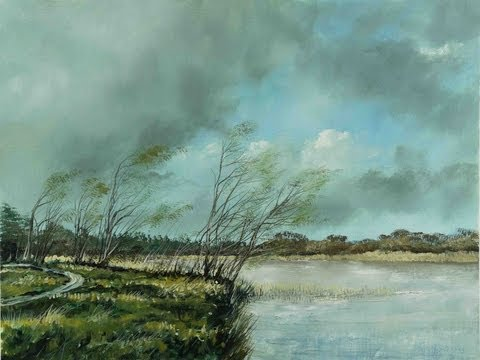 Rough Winds, Kellyville Lake - Time Lapse Painting