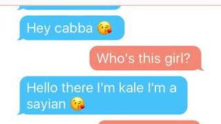 Tarble texts cabba (Kale is bored)