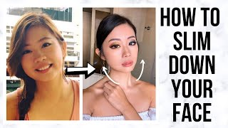 HOW TO SLIM DOWN YOUR FACE (include 7 Effective Face Exercises) ~ Emi