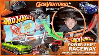 Hot Wheels Power Shift Raceway - Unboxing & Review by GioVentures