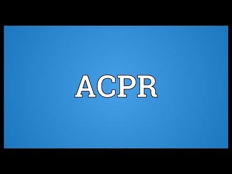 Header of acpr