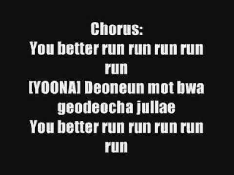 Run Devil Run - Snsd Lyrics. video