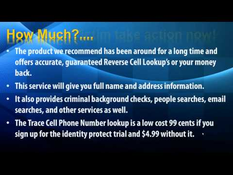 Trace Cell Phone Numbers free - trace cell phone - get name and address -Track Cell