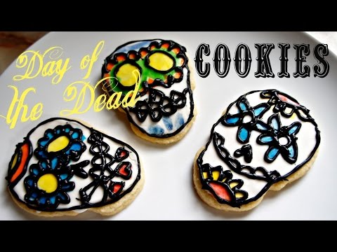 Day of the Dead Cookie Kit - sugar cookie skulls