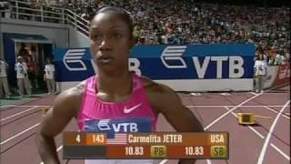 100m - Carmelita Jeter - 10.67 - World Athletics Final Thessaloníki 2009