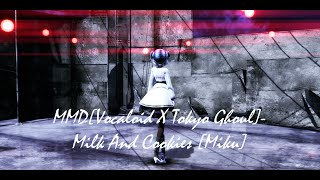 MMD[Vocaloid X Tokyo Ghoul]-Milk And Cookies [Miku]