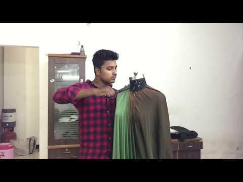 Fashion design. Dreeping gown.