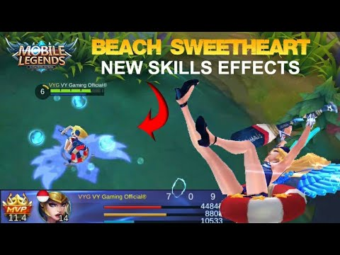 Freya Beach Sweetheart Skin Rework with New Skills Effects Gameplay - Mobile Legends Patch 2.04