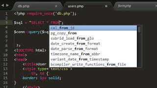 PHP #part 9: SELECT data from database using php