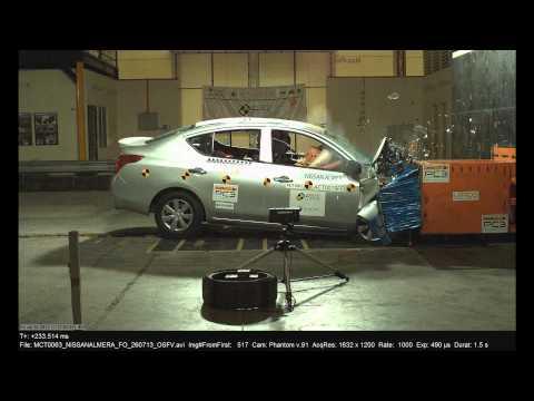 Nissan Almera ASEAN NCAP краш-тесты