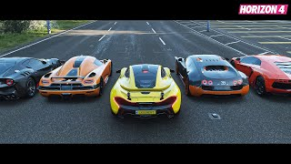 The Most Top10 Fastest Speed Hype Car Drag Race | Forza Horizon 4 [60fps]
