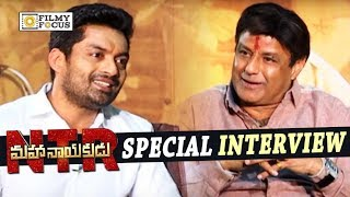 Balakrishna and Kalyan Ram Funny Interview about NTR Mahanayakudu Movie