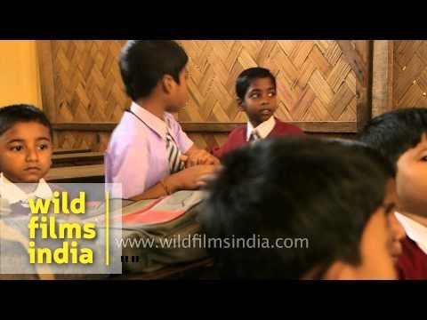 Students in a classroom - India