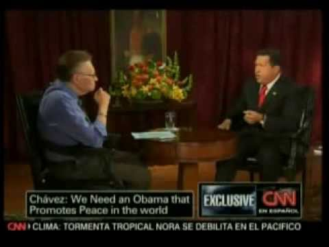 Larry King entrevista al  Presidente Hugo Rafael Chávez Frías