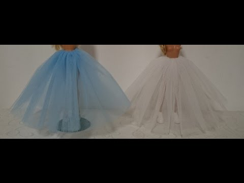 Как сшить платье для барби из фатина 58