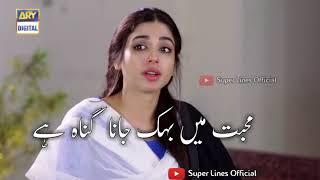 Muhabbat Karna Gunnah Nahi By Super lines