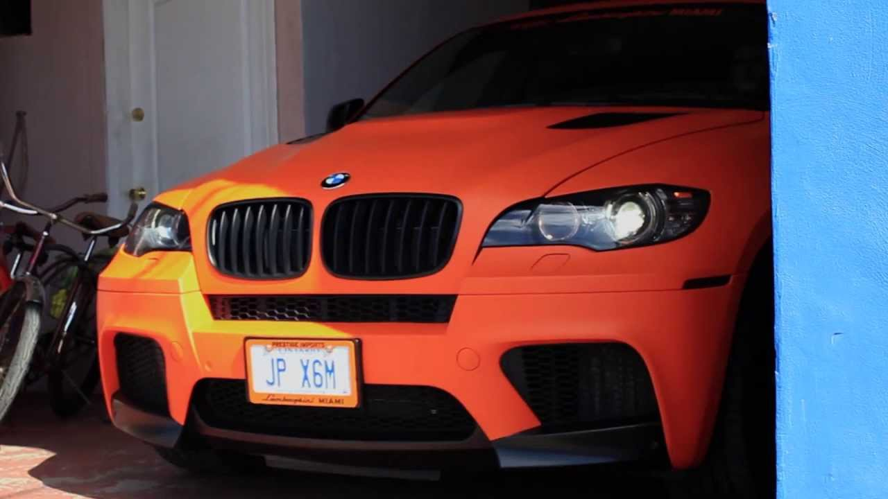 The Sign Savers Full Wrap Bmw X6m Matte Orange Youtube