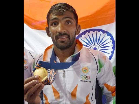 Day 9 -Indian in 17th Asian Games 2014 at Incheon on 28/09/2014, Yogeshwar Dutt & Khushbir Kaur