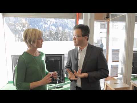 Professor of Geography and Author Dr. Laurence Smith speaks with Edie Lush at Hub Davos
