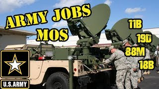 US Army MOS (Army jobs)