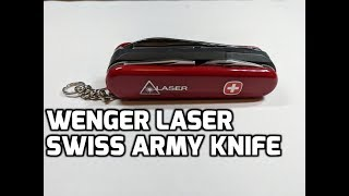 Wenger Laser Pointer Tool Discontinued Swiss Army Knife Unboxing and Review