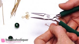 How to Open and Close Eye Pins for Jewelry Making