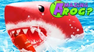 Download Lagu DEFEATING THE GIANT RED SHARK! - Amazing Frog - Part 144   Pungence Gratis STAFABAND