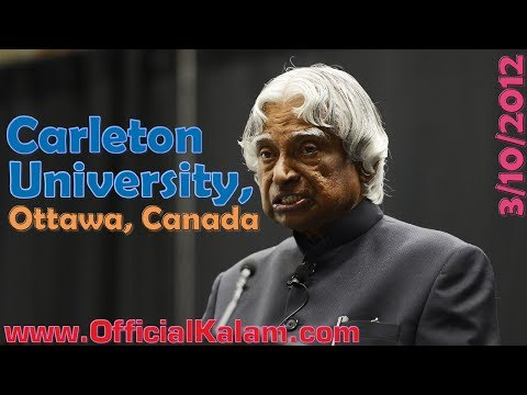 Dhahan Annual Lecture by Dr. APJ Abdul Kalam at Carleton University