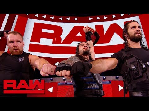 The Shield celebrate after Raw: Raw Exclusive, Aug. 20, 2018