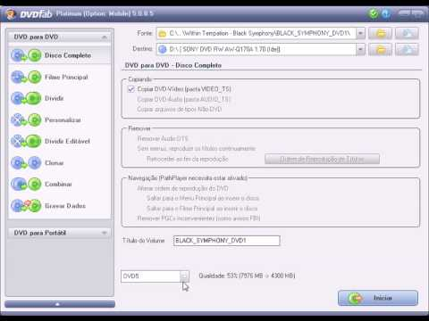 Tutorial DVDFab Platinum Copiar DVD Dual Layer DVD9