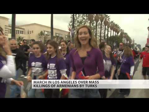 LA marchers remember 100th anniversary of Armenian genocide