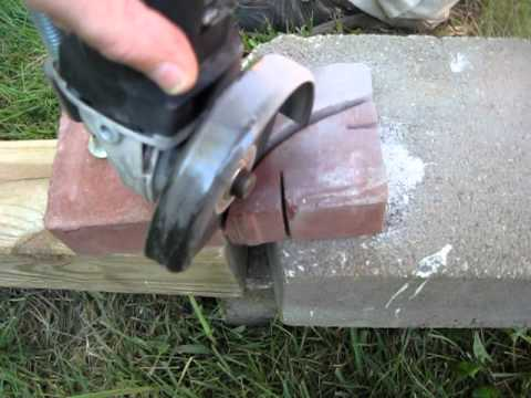 Simple DIY Curved Cut in Patio Pavers with HarborFreights Grinder / Masonry Blades