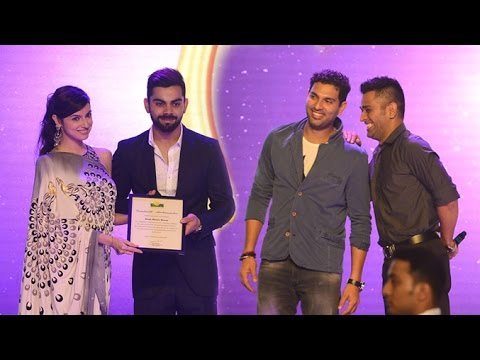 Virat Kohli Foundation Awards Gala Dinner | MS Dhoni, Yuvraaj Singh, Ajinkya Rahane