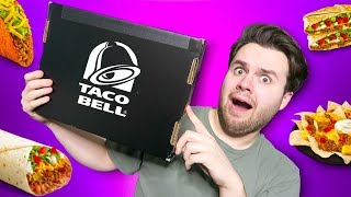 taco bell sent me a mystery box and i'm SHOOK. is there food in it?!?