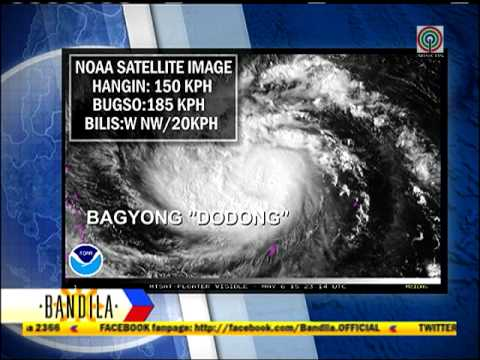 Typhoon Dodong strengthens ahead of landfall