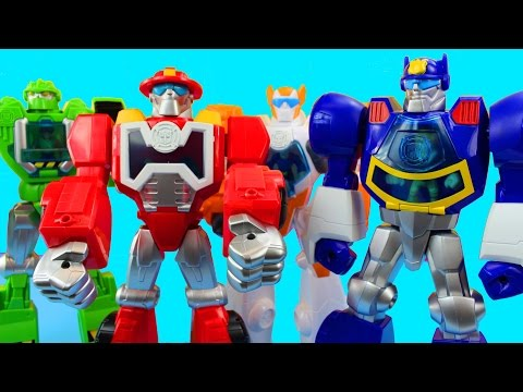 Transformers Rescue Bots Playskool Heroes with Chase Heatwave Boulder and Blades