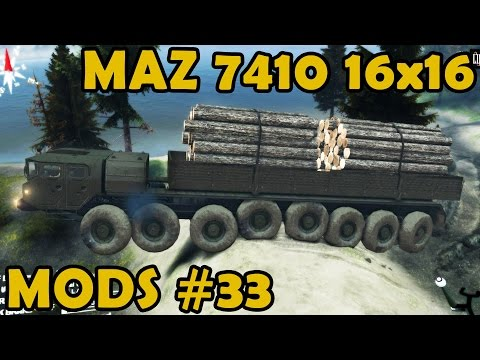 Spin Tires Mod Review #33 - MAZ 7410 16x16