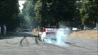 Goodwood Festival Of Speed Highlights 2013! Huge Burnouts, Donuts and Launches