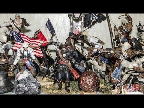 Моя скромная коллекция из 15ти фигурок по серии Assassin's Creed