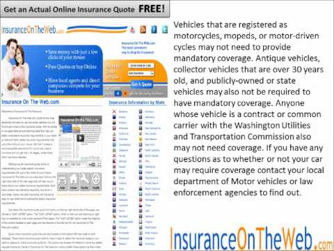 Washington Auto Insurance